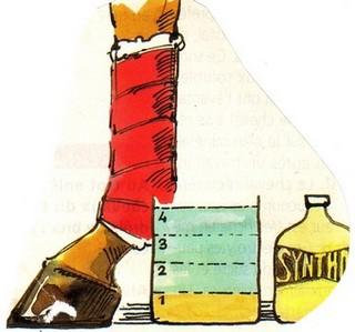 L'argile se pose sous les bandes,protégées par du papier cellophane ou journal.